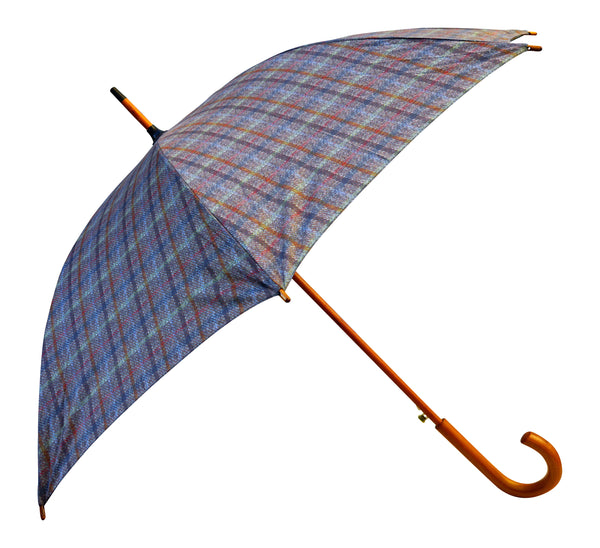 ST Brown Tartan, Tweed Print Umbrella with pongee fabric - Chantam - Beautifully designed Tartan and Harris Tweed handbags and accessories