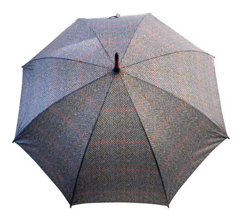 ST Herringbone Tweed Pattern Striped Umbrella with pongee fabric