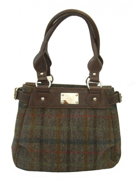 Harris Tweed Handbag (code:Sophie-HT-Choc) - Chantam - Beautifully designed Tartan and Harris Tweed handbags and accessories