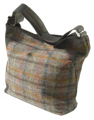Harris Tweed Handbag (code:Nessa-HTchoc) - Chantam - Beautifully designed Tartan and Harris Tweed handbags and accessories