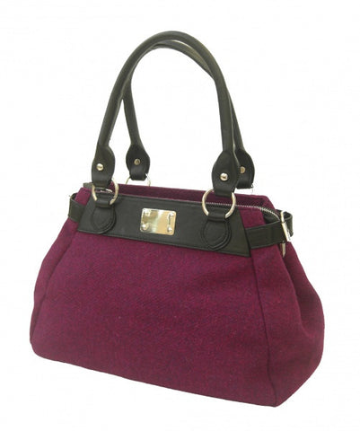 Harris Tweed Handbag (code:Rosie-HT-Purple) - Chantam - Beautifully designed Tartan and Harris Tweed handbags and accessories