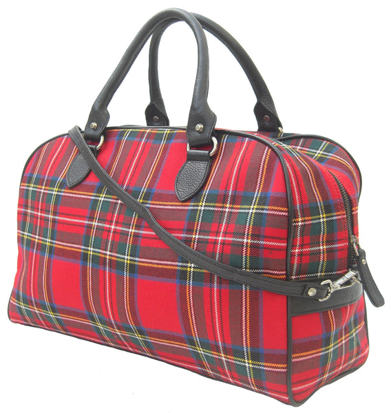 Royal Stewart Overnight Handbag - Chantam - Beautifully designed Tartan and Harris Tweed handbags and accessories