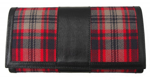 Harris Welsh Tartan Purse01 - Chantam - Beautifully designed Tartan and Harris Tweed handbags and accessories