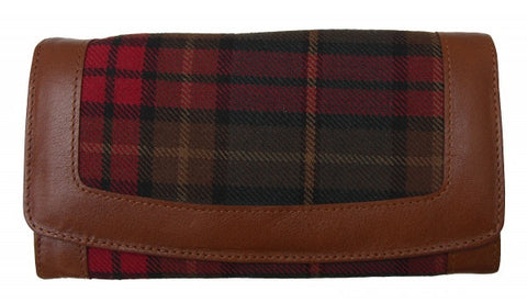 Irish County Cavan Tartan Purse05 - Chantam - Beautifully designed Tartan and Harris Tweed handbags and accessories