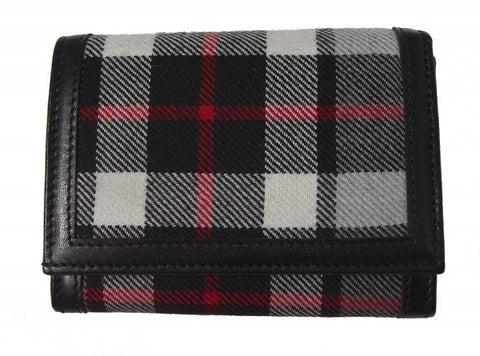 Thomson Gray Tartan Purse06 (code:Purse06-01W) - Chantam - Beautifully designed Tartan and Harris Tweed handbags and accessories