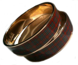 Royal Stewart Enamel Bracelet - Chantam - Beautifully designed Tartan and Harris Tweed handbags and accessories