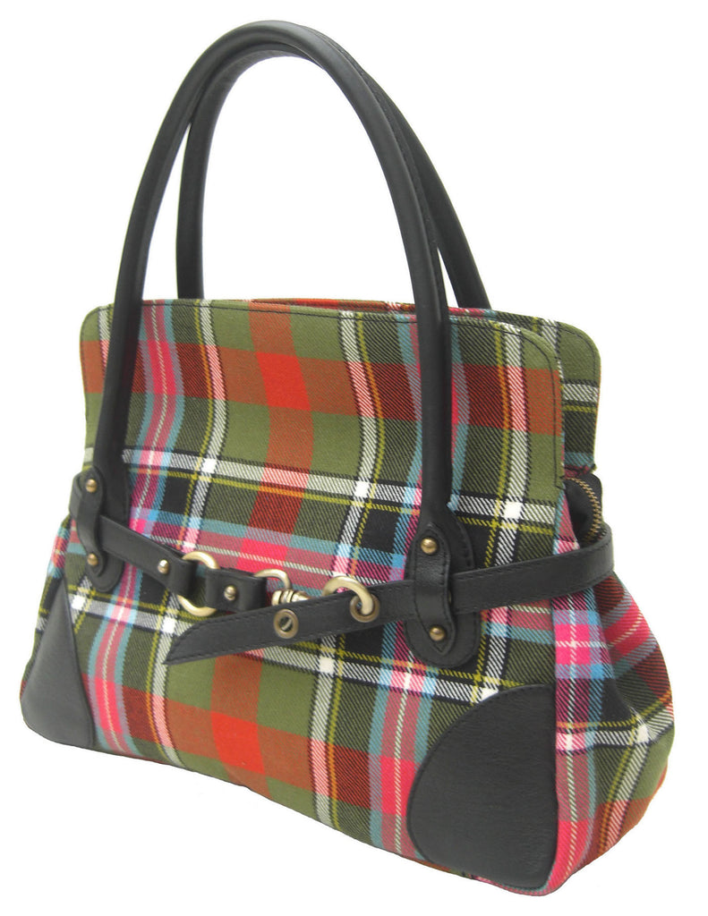 Bruce of Kinnaird Tartan Rosie Handbag - Chantam - Beautifully designed Tartan and Harris Tweed handbags and accessories