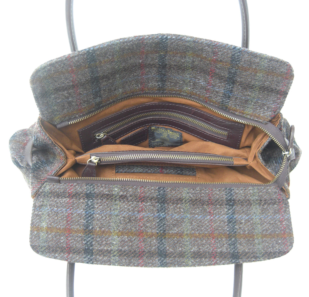 Harris Tweed Herringbone Handbag (code:R-HT02) - Chantam - Beautifully designed Tartan and Harris Tweed handbags and accessories