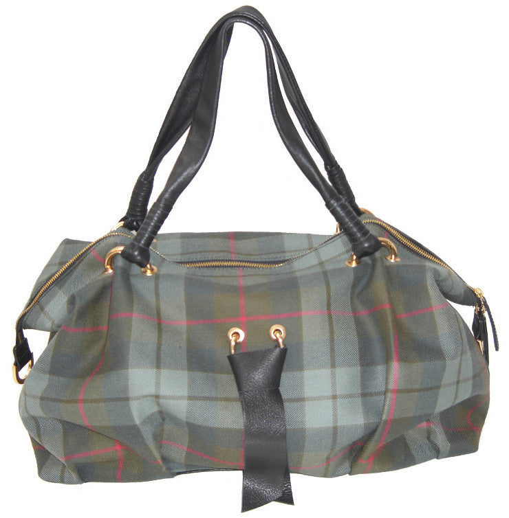 Gunn Weathered Tartan Handbag Roxanne - Chantam - Beautifully designed Tartan and Harris Tweed handbags and accessories