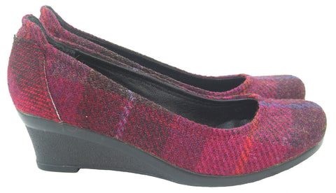 Harris Tweed Cerise Shoes - Chantam - Beautifully designed Tartan and Harris Tweed handbags and accessories