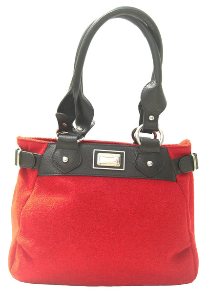 Harris Tweed Handbag (code:Sophie-HT-Dark Red) - Chantam - Beautifully designed Tartan and Harris Tweed handbags and accessories