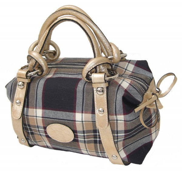 Stewart Navy Suzie Tartan Handbag - Chantam - Beautifully designed Tartan and Harris Tweed handbags and accessories