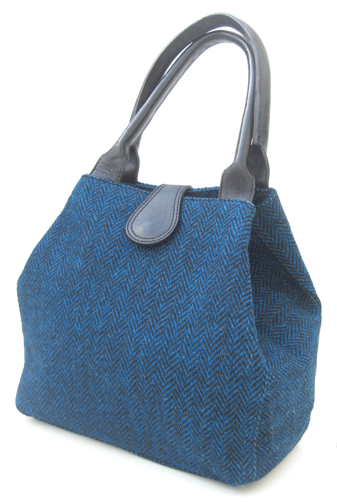 Harris Tweed Herringbone Handbag Zara - Chantam - Beautifully designed Tartan and Harris Tweed handbags and accessories