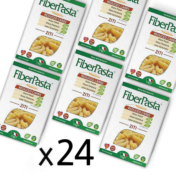 FiberPasta Ziti Pasta low glycemic index, low carbs