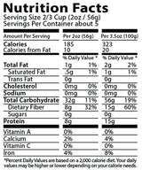 FiberPasta Ziti Pasta nutrition facts, low glycemic index, low carbs