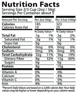 FiberPasta Penne Pasta nutrition facts, low glycemic index, low carbs