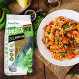 FiberPasta PastaPro Combo collection, fusilli, penne, spaghetti, ziti low glycemic index, low carbs