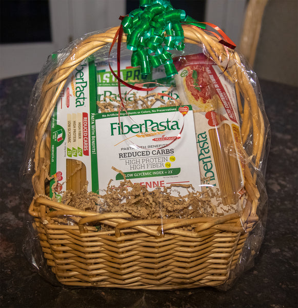 HOLIDAY GIFT PACKAGE<br>Basket of 6 Pastas including PastaPro and extra spaghetti, with free shipping