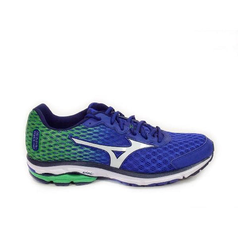 Mizuno Wave Rider 18 Mens Running Shoe Blue/Green |Sneakers Plus