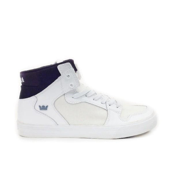 Supra Vaider Mens Hi Top Shoe White/Black/White |Sneakers Plus