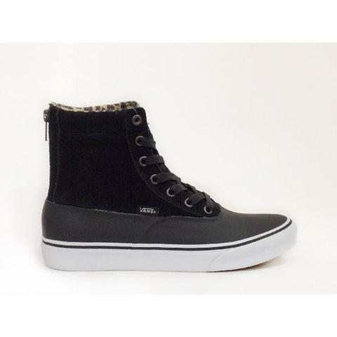 Vans Camden Hi Zip MTE Womens Winter Shoe Black Cheetah |Sneakers Plus