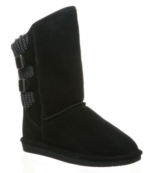 Bearpaw Boshie Wide Womens Boots Black | Sneakers Plus