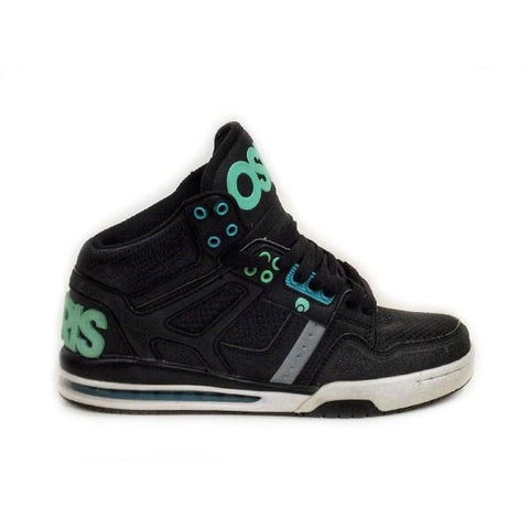 Osiris Rucker Mens High Top Skate Shoe Black-Green |Sneakers Plus