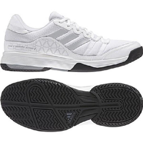 Adidas Barricade Mens Court Shoes  White | Sneakers Plus