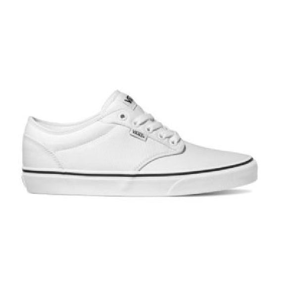 Vans Atwood Mens White/White with Black Foxing |Sneakers Plus