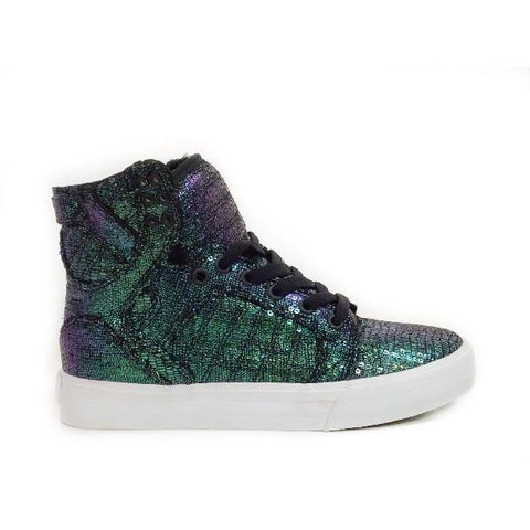 Supra Skytop Womens Skate Shoe Blk Sequin |Sneakers Plus
