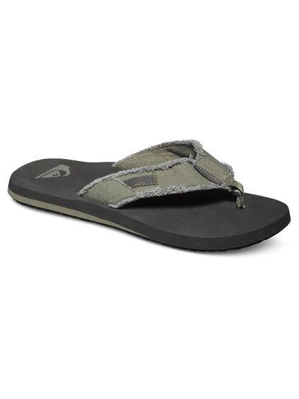 Quiksilver Monkey Abyss Mens Flip Flop Olive |Sneakers Plus