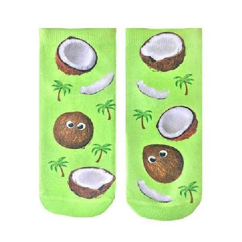 Living Royal Ankle Socks Googly Eyed Coconuts |Sneakers Plus