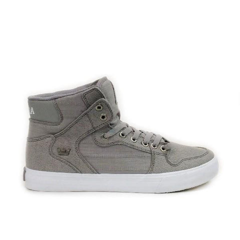 Supra Vaider Mens Skate Shoes Grey-White |Sneakers Plus