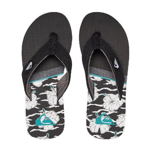Quiksilver Molokai Layback Boys Sandals Black-Teal | Sneaker Plus