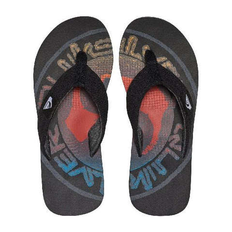 Quiksilver Molokai Layback Boys Sandals Black-Red-Blue | Sneakers Plus