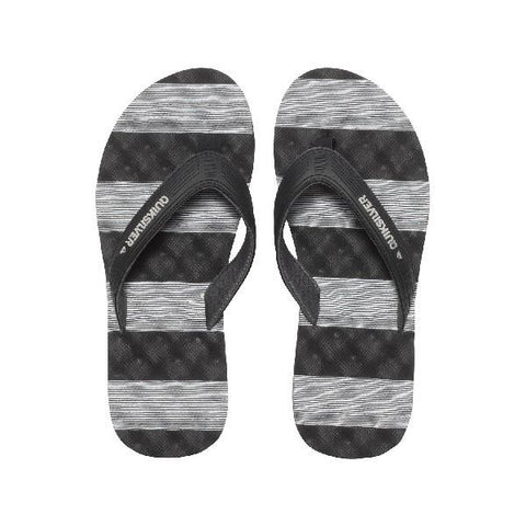 Quiksilver Massage Mens Sandals Black-White | Sneakers Plus