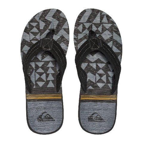 Quiksilver Carver Suede Mens Sandals Black-Grey | Sneakers Plus