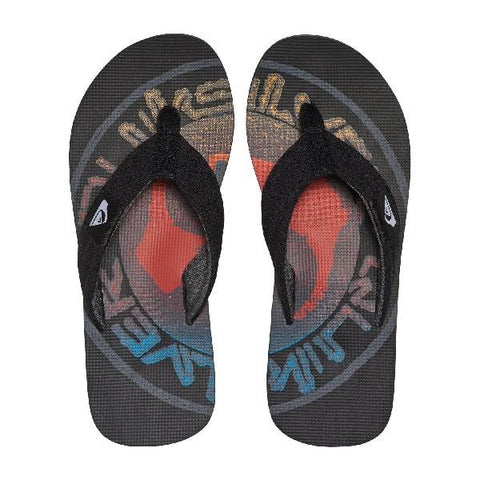 Quiksilver Molokai Layback Mens Sandals Blue-Red Logo | Sneakers Plus