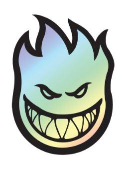 Spitfire Fireball Prism Sticker | Sneakers Plus