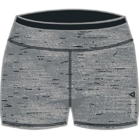 Reebok Workout Hot Shorts Women Training Grey-Black |Sneakers Plus
