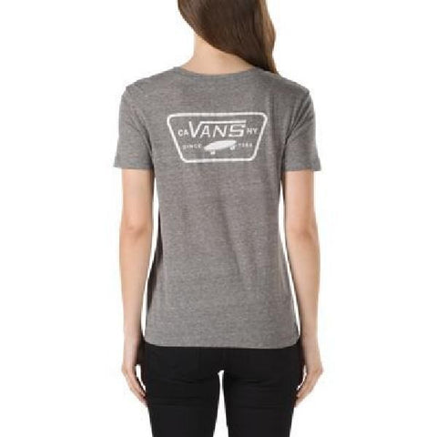 Vans Full Patch Crew Womens Tee Grey |Sneakers Plus