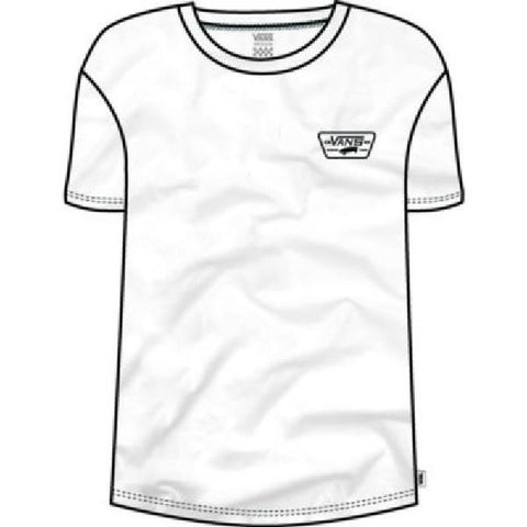 Vans Full Patch Crew Womens Tee White |Sneakers Plus