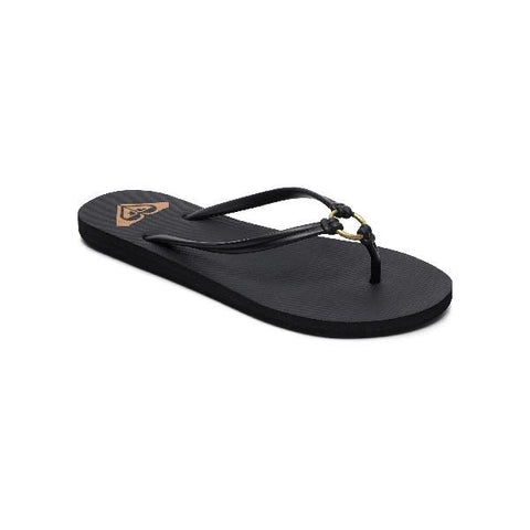 Roxy Solis Womens Flip Flops Black |Sneakers Plus