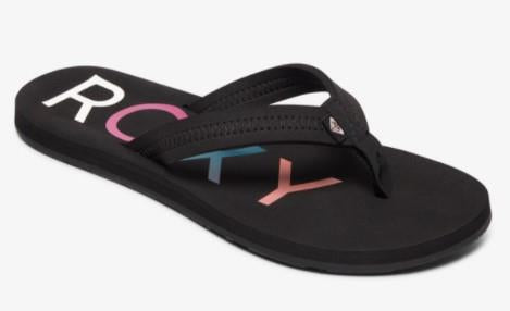 Roxy Vista ll Womens Flip Flops Black |Sneakers Plus