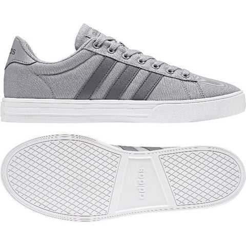 Adidas Daily 2.0 Mens Skate Shoe Grey-White |Sneakers Plus