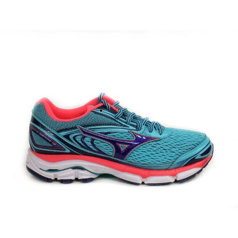 Mizuno Wave Inspire 13 Womens Running Shoe Teal-Coral |Sneakers Plus