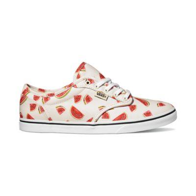 Vans Atwood Low Women Skate Shoes Watermelon Print | Sneakers Plus