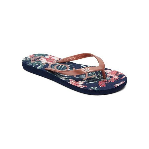 Roxy Tahiti Womens Flip Flops Pink-Navy | Sneakers Plus