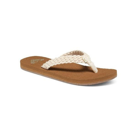 Roxy Porto ll Womens Flip Flop Cream | Sneakers Plus