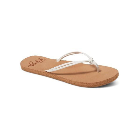 Roxy Lahaina lll Womens Flip Flops White | Sneakers Plus